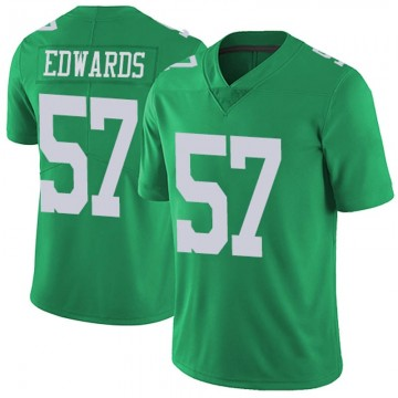 Youth Nike Philadelphia Eagles T.J. Edwards Green Vapor Untouchable Jersey - Limited