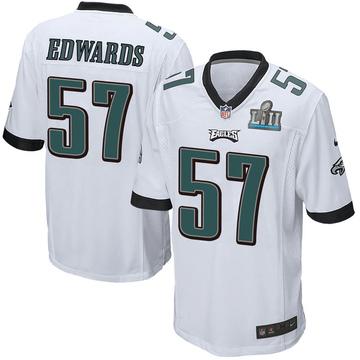 Youth Nike Philadelphia Eagles T.J. Edwards White Super Bowl LII Jersey - Game