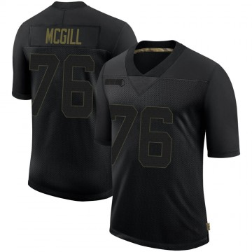 Youth Nike Philadelphia Eagles T.Y. McGill Black 2020 Salute To Service Jersey - Limited