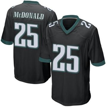 Youth Nike Philadelphia Eagles Tommy McDonald Black Alternate Jersey - Game