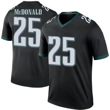 Youth Nike Philadelphia Eagles Tommy McDonald Black Color Rush Jersey - Legend