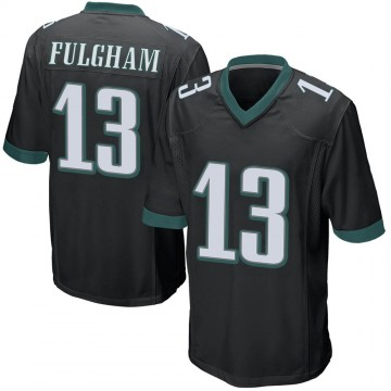Youth Nike Philadelphia Eagles Travis Fulgham Black Alternate Jersey - Game
