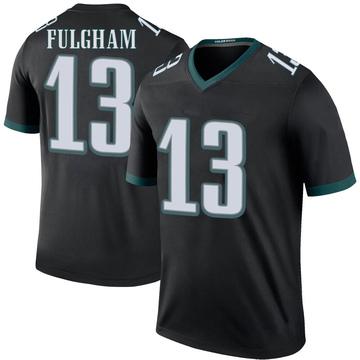 Youth Nike Philadelphia Eagles Travis Fulgham Black Color Rush Jersey - Legend