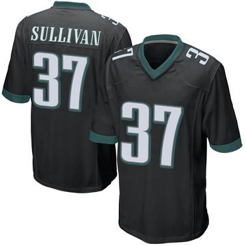 Youth Nike Philadelphia Eagles Tre Sullivan Black Alternate Jersey - Game