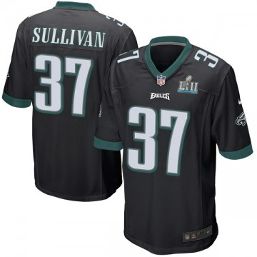 Youth Nike Philadelphia Eagles Tre Sullivan Black Alternate Super Bowl LII Jersey - Game