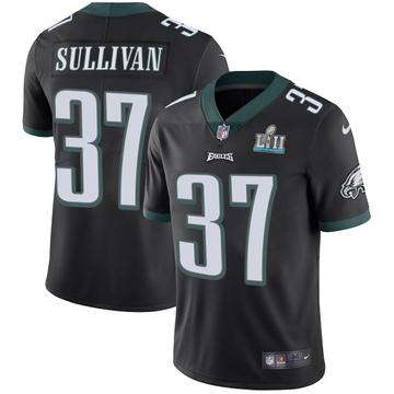 Youth Nike Philadelphia Eagles Tre Sullivan Black Alternate Super Bowl LII Vapor Untouchable Jersey - Limited