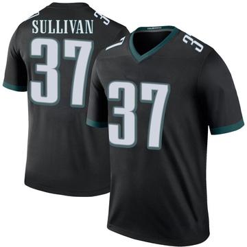 Youth Nike Philadelphia Eagles Tre Sullivan Black Color Rush Jersey - Legend