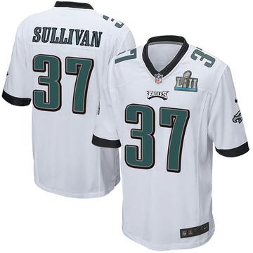 Youth Nike Philadelphia Eagles Tre Sullivan White Super Bowl LII Jersey - Game