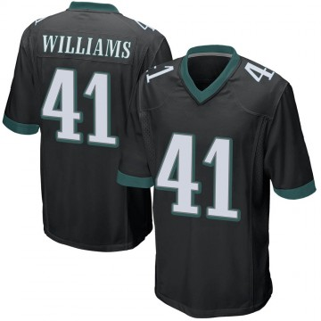 Youth Nike Philadelphia Eagles Trevor Williams Black Alternate Jersey - Game