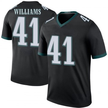 Youth Nike Philadelphia Eagles Trevor Williams Black Color Rush Jersey - Legend