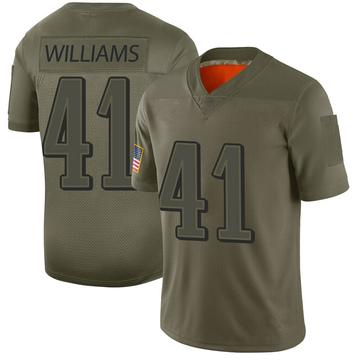 Youth Nike Philadelphia Eagles Trevor Williams Camo 2019 Salute to Service Jersey - Limited