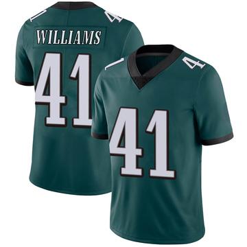 Youth Nike Philadelphia Eagles Trevor Williams Green Midnight Team Color Vapor Untouchable Jersey - Limited