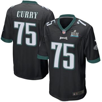 Youth Nike Philadelphia Eagles Vinny Curry Black Alternate Super Bowl LII Jersey - Game