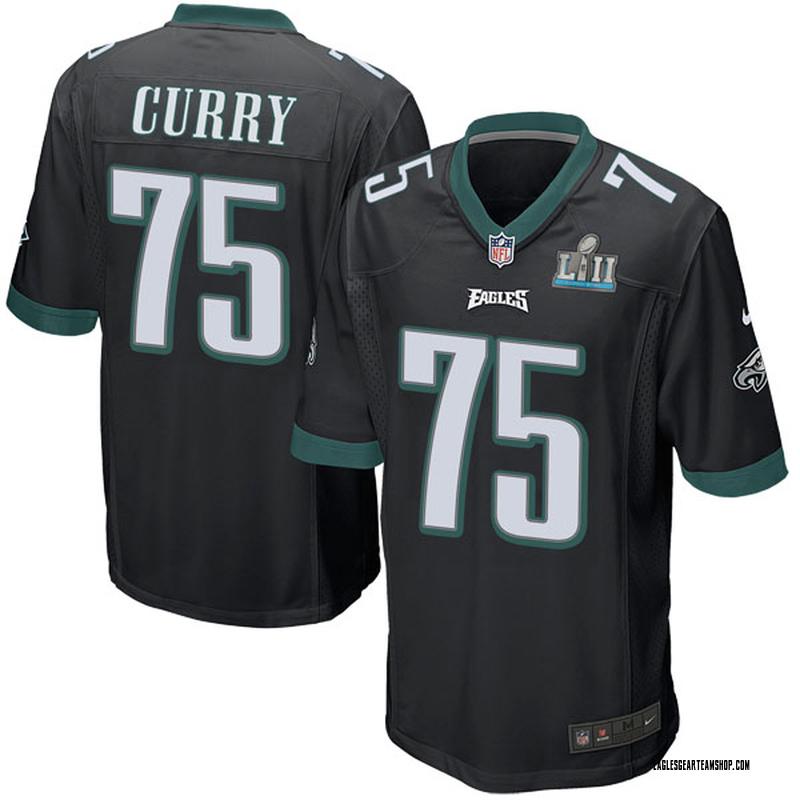 newest 53ec3 6f794 Youth Nike Philadelphia Eagles Vinny Curry Black Alternate Super Bowl LII  Jersey - Game