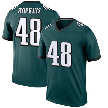 Youth Nike Philadelphia Eagles Wes Hopkins Green Jersey - Legend