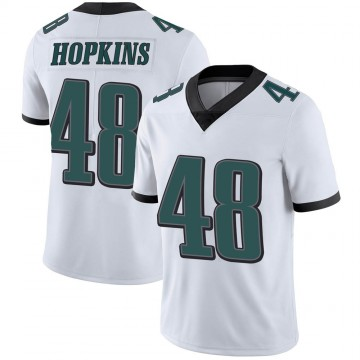 Youth Nike Philadelphia Eagles Wes Hopkins White Vapor Untouchable Jersey - Limited