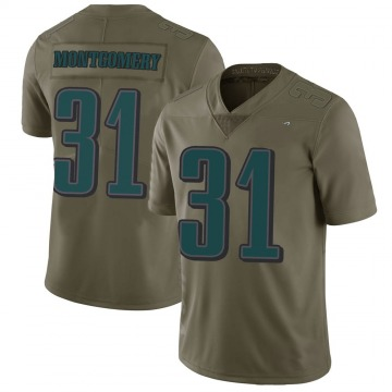 Youth Nike Philadelphia Eagles Wilbert Montgomery Green 2017 Salute to Service Jersey - Limited