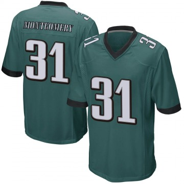 Youth Nike Philadelphia Eagles Wilbert Montgomery Green Team Color Jersey - Game