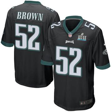 Youth Nike Philadelphia Eagles Zach Brown Black Alternate Super Bowl LII Jersey - Game