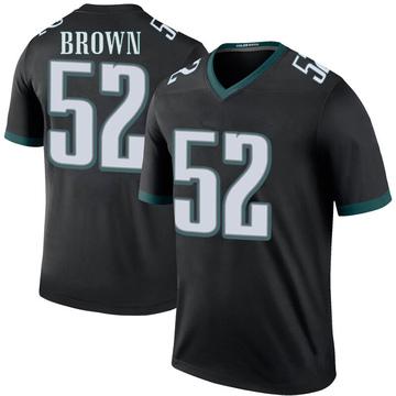 Youth Nike Philadelphia Eagles Zach Brown Black Color Rush Jersey - Legend