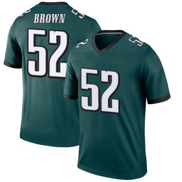 Youth Nike Philadelphia Eagles Zach Brown Green Jersey - Legend