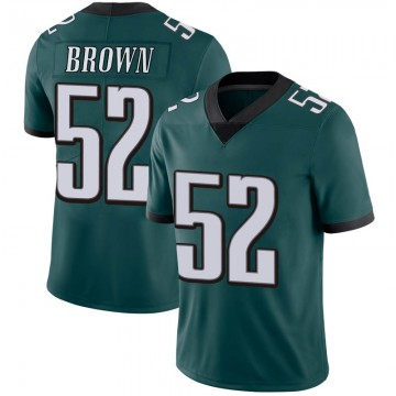 Youth Nike Philadelphia Eagles Zach Brown Green Midnight 100th Vapor Jersey - Limited