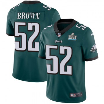 Youth Nike Philadelphia Eagles Zach Brown Green Midnight Team Color Super Bowl LII Vapor Untouchable Jersey - Limited