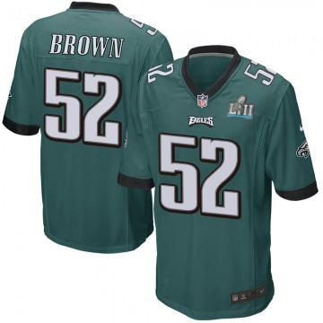 Youth Nike Philadelphia Eagles Zach Brown Green Team Color Super Bowl LII Jersey - Game