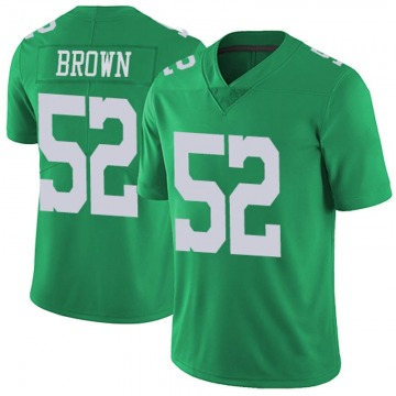 Youth Nike Philadelphia Eagles Zach Brown Green Vapor Untouchable Jersey - Limited