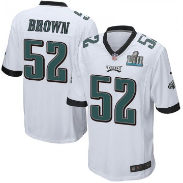 Youth Nike Philadelphia Eagles Zach Brown White Super Bowl LII Jersey - Game