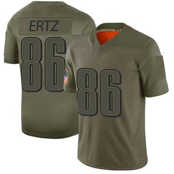 Youth Nike Philadelphia Eagles Zach Ertz Camo 2019 Salute to Service Jersey - Limited